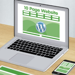 10 page wordpress website design