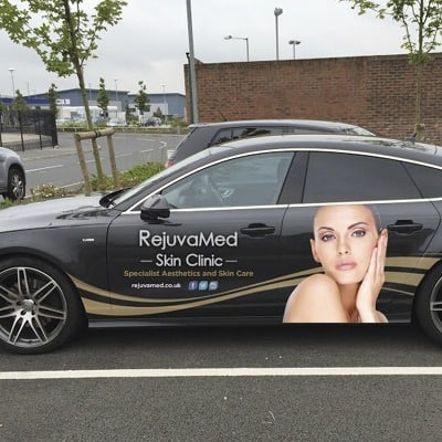 Image of Audi A7 vehicle graphics for Skin Clinic
