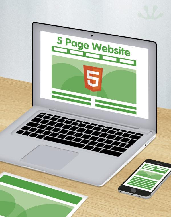 5 page HTML 5 website design