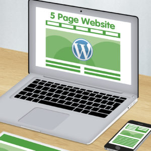 5 page wordpress website design