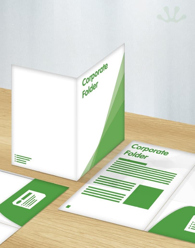 Corporate Folder Design Presentation Folders Fertile Frog