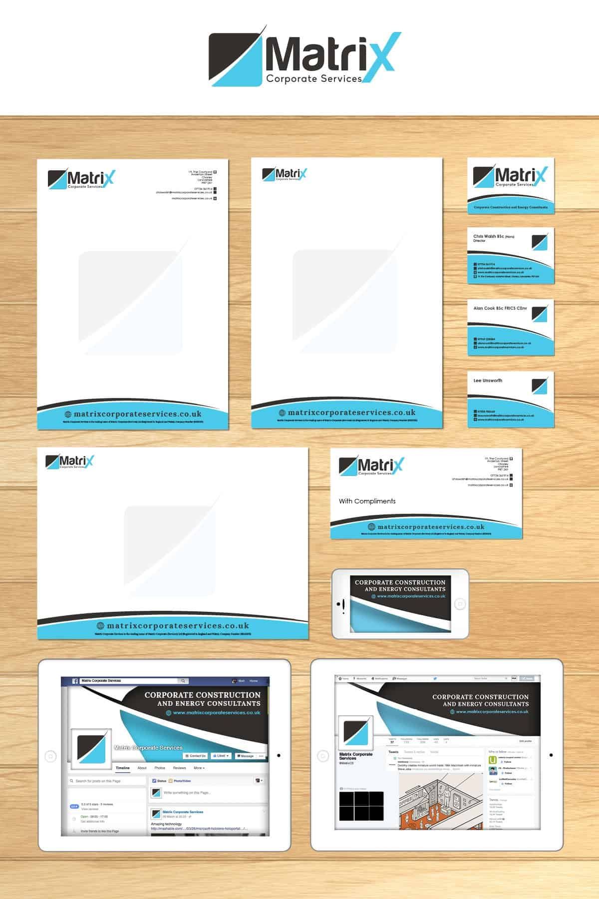 Matrix Corporate Services Print Media and Stationary