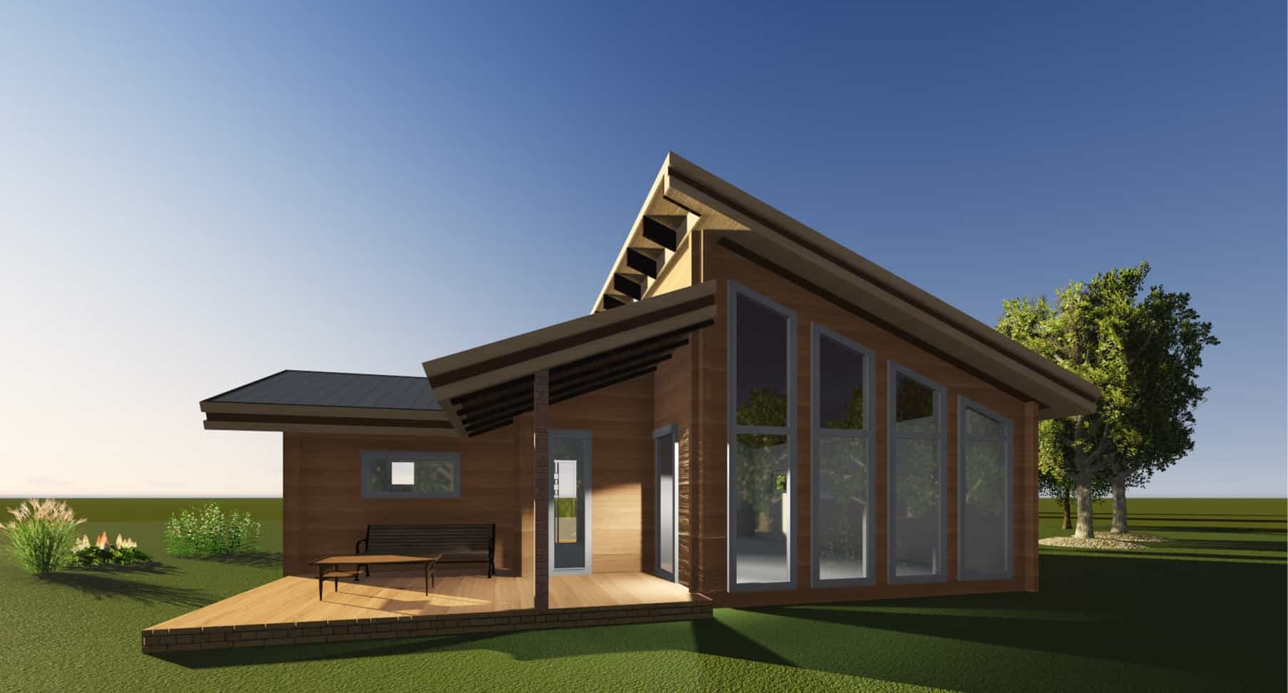 sketchup 3d modelling architecture design alt house. Black Bedroom Furniture Sets. Home Design Ideas