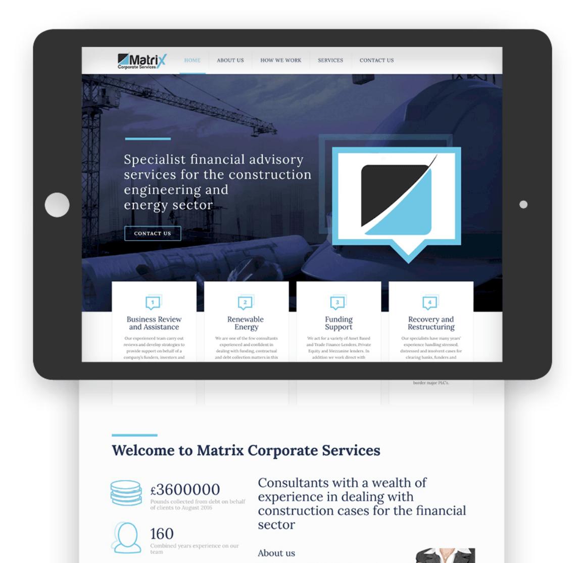 Matrix Corporate Services home page