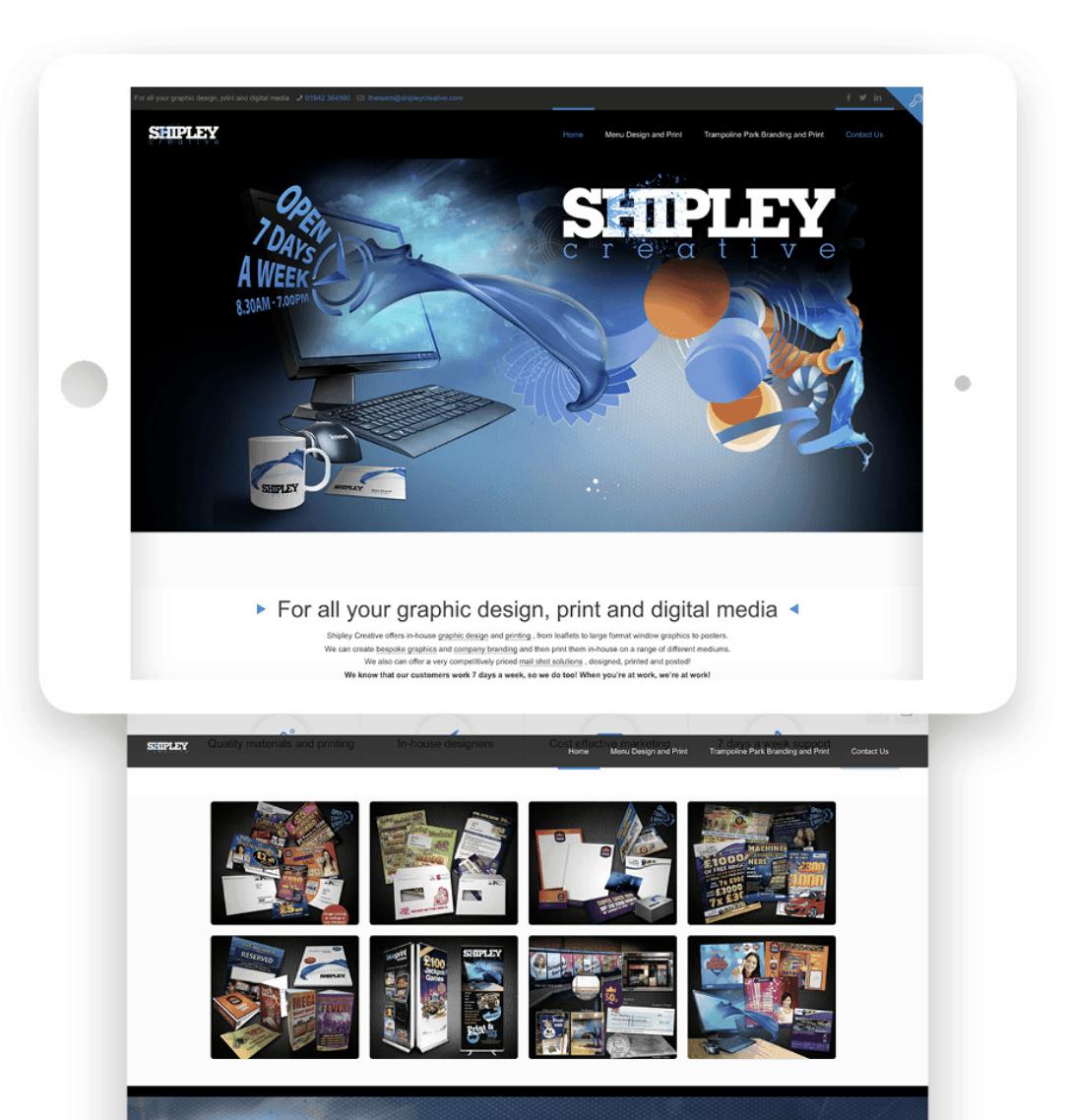 Shipley Creative Website home page