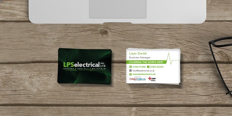 electrician business cards - design and print - lps electrical