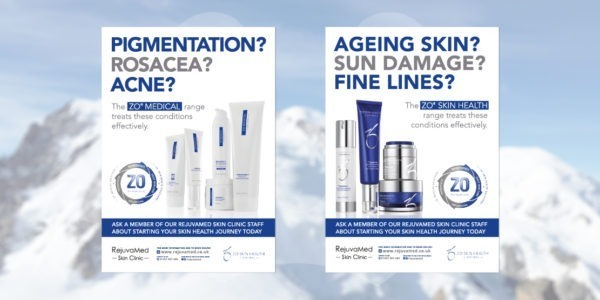 Aesthetics Clinic Posters Rejuvamed ZO Skin Health Posters