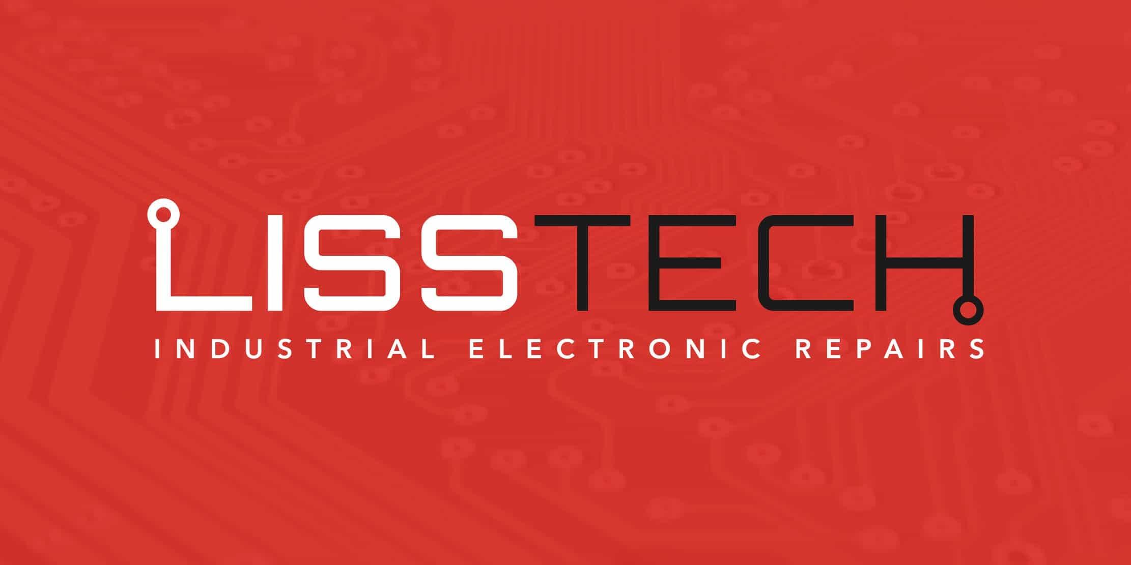 electronic repair logo design red