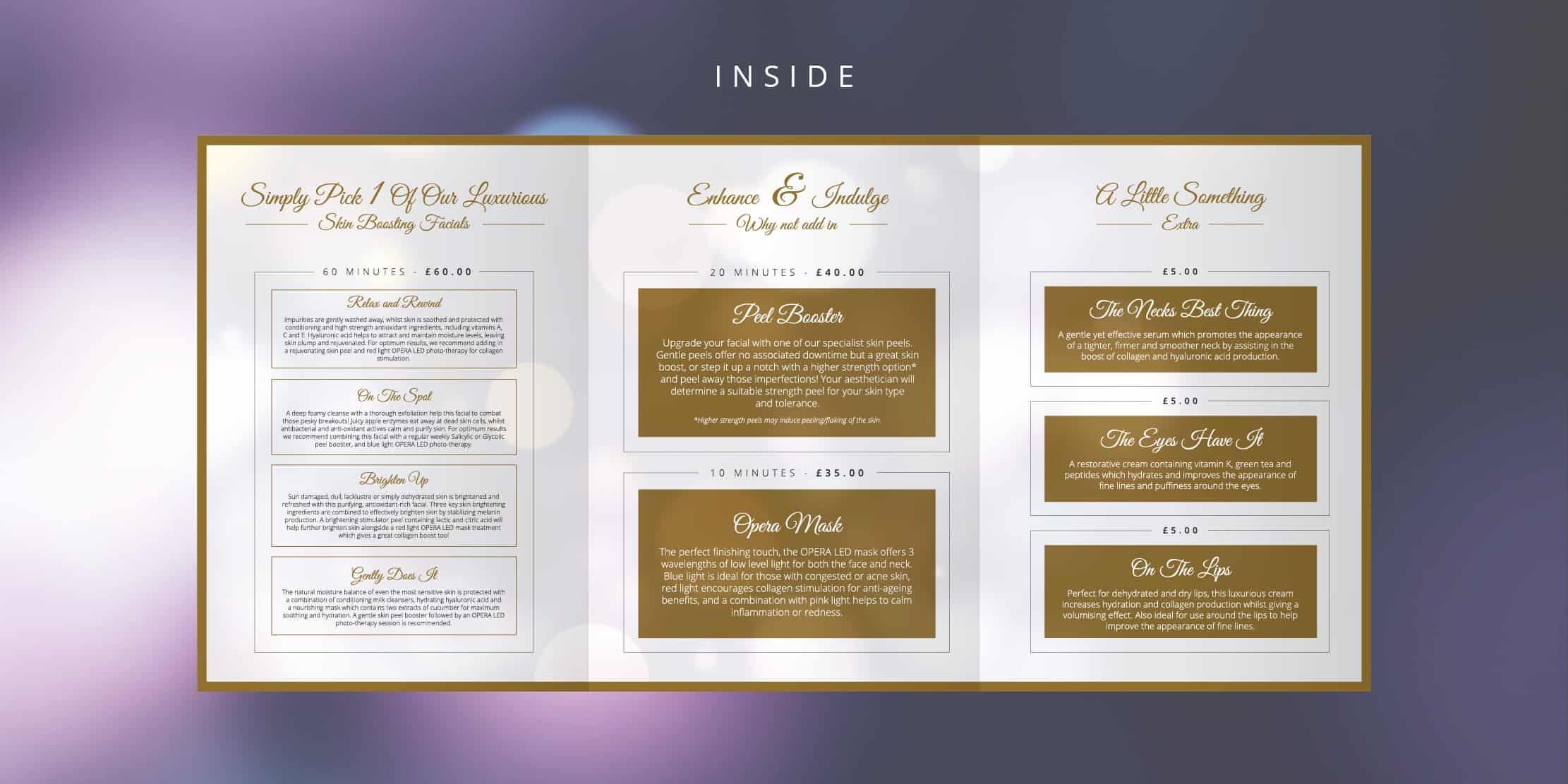 mock of trifold brochure