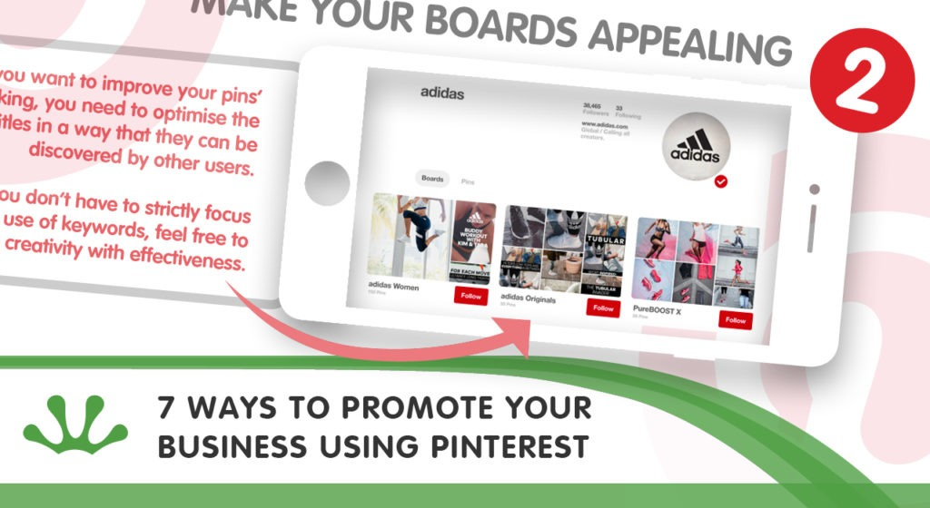 Infographic on ways to promote your business with Pinterest