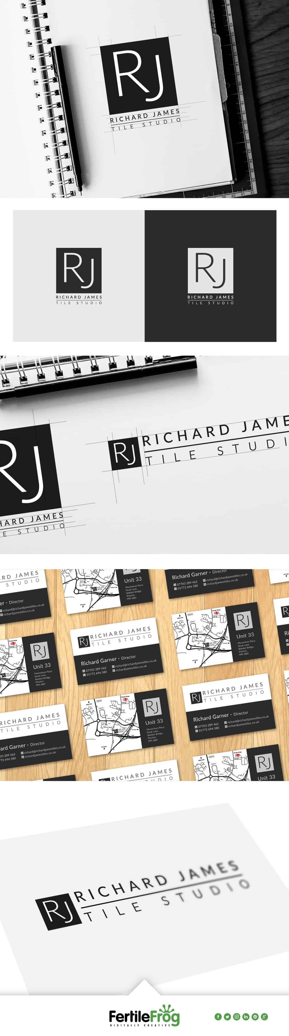 Richard James Tile Studio Logo Portfolio