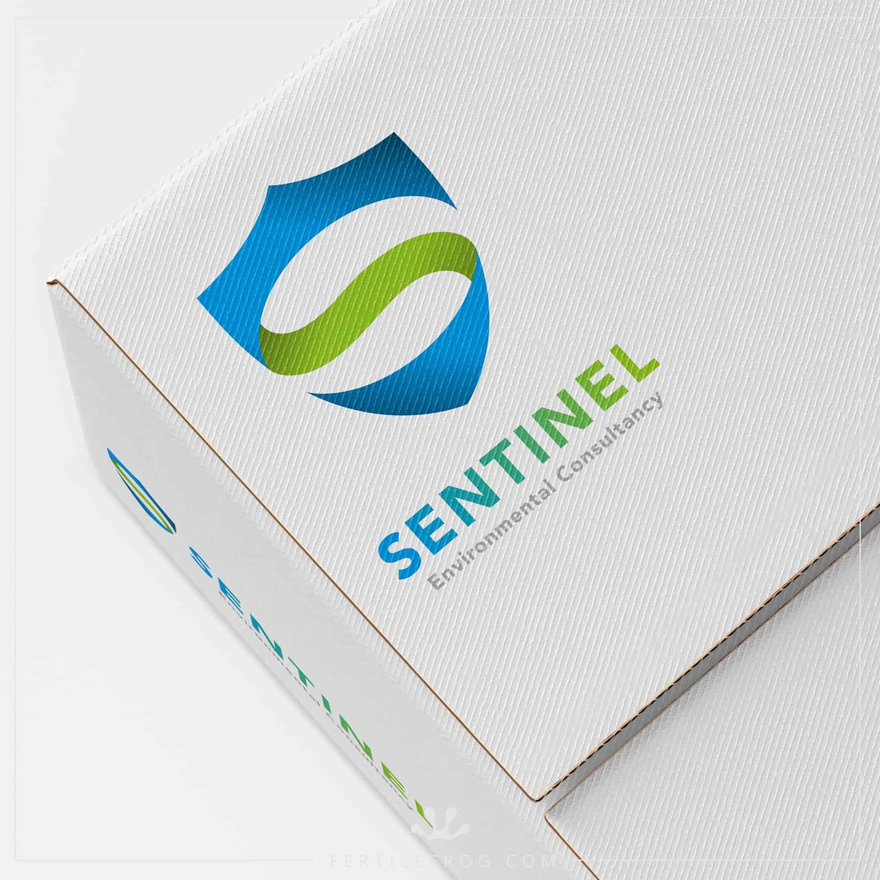 Sentinel - Logo design on a box