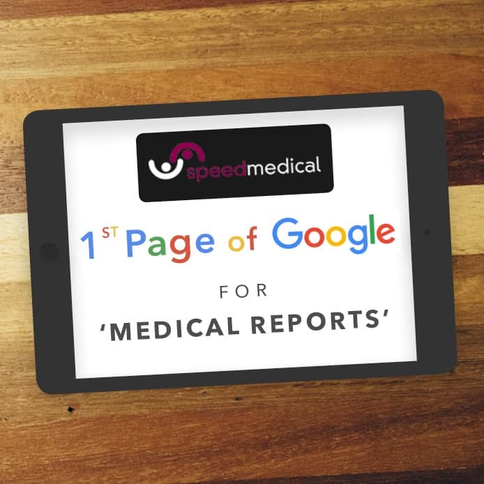 Speed Medical 1st Page Of Google