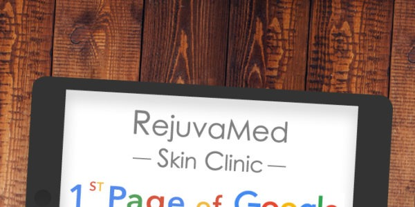 Ipad showing 1st Page Google Ranking for 'SKIN TREATMENTS'