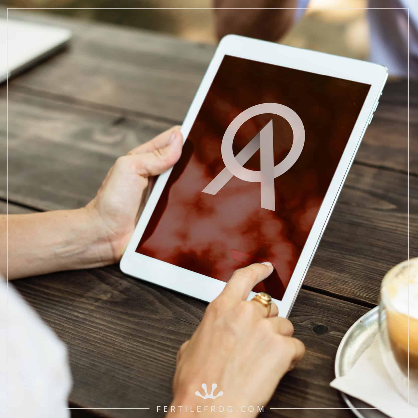 Oakdene Advisory logo on tablet device