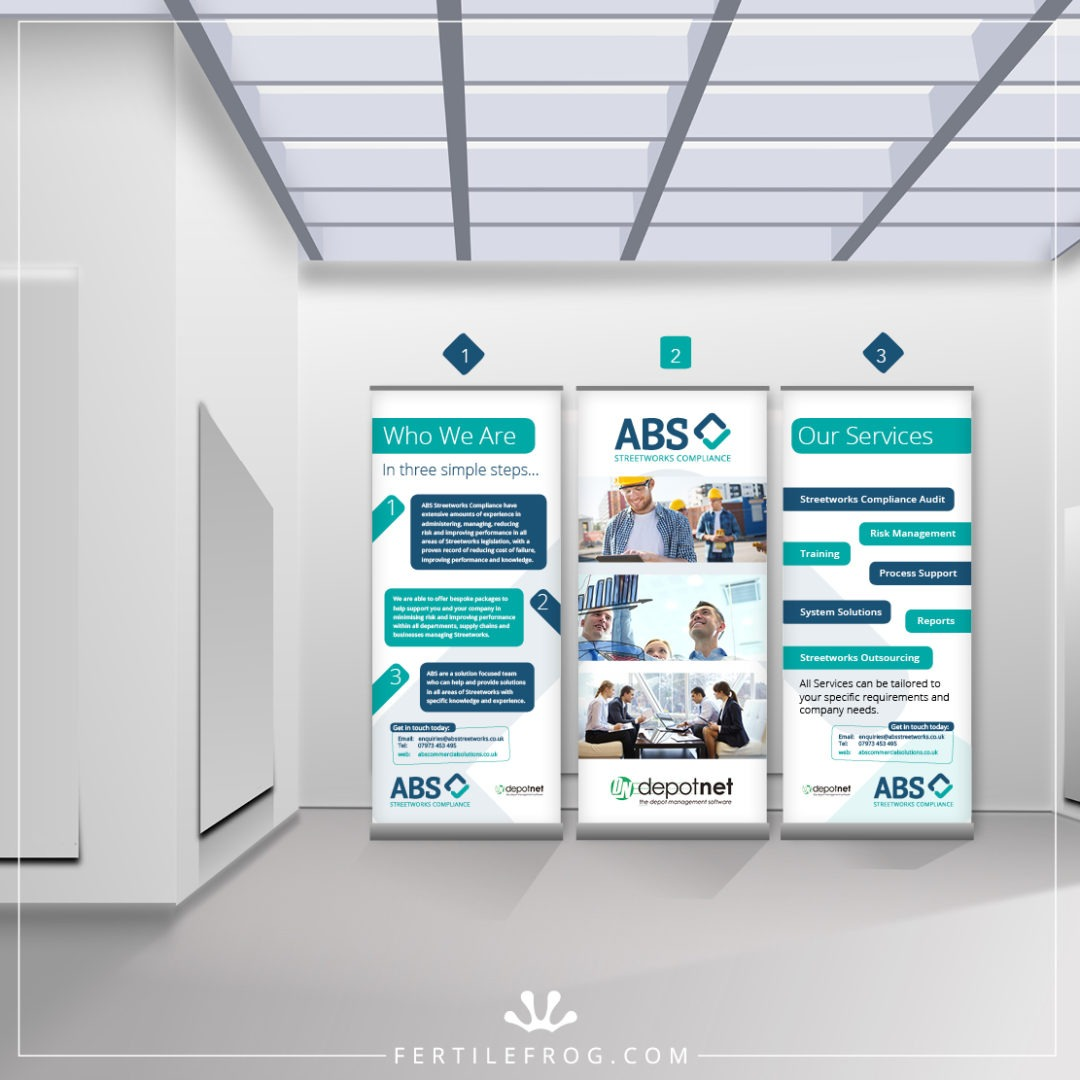 Commercial Services Roll Up Banners