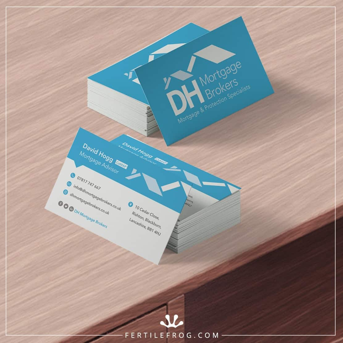 Mortgage Brokers Business Cards - DH Mortgage Brokers - Fertile Frog