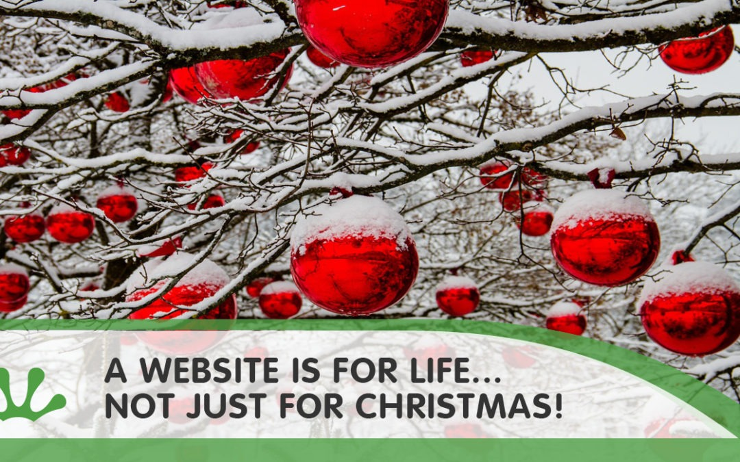 A website is for life… Not just for Christmas!