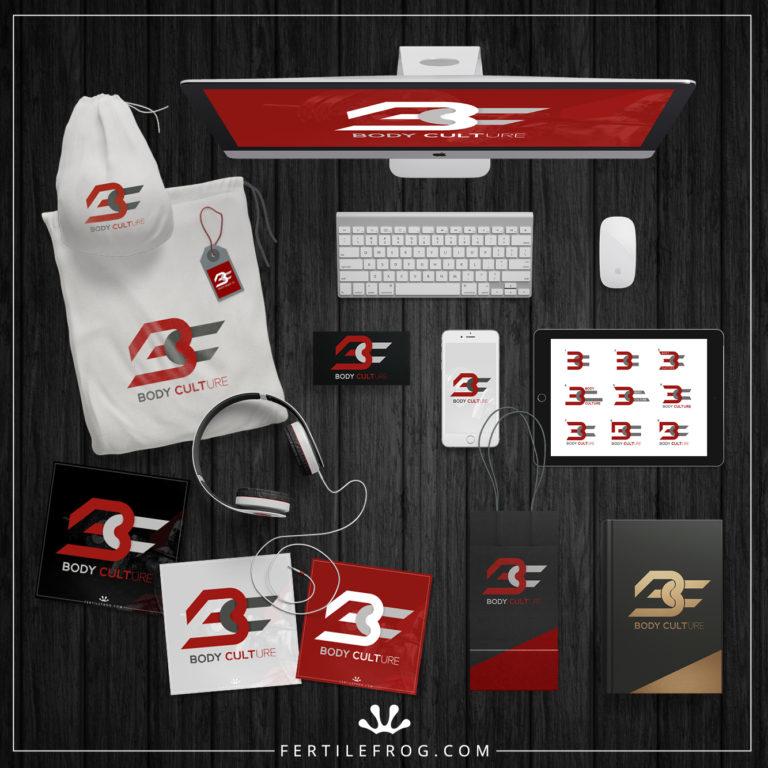 gym branding design final samples