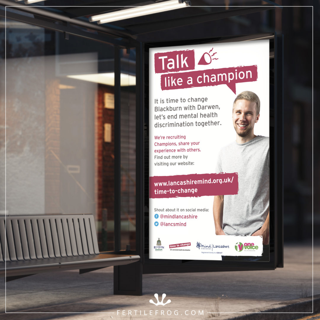 Mental Health Charity Bus Shelter Advertisement