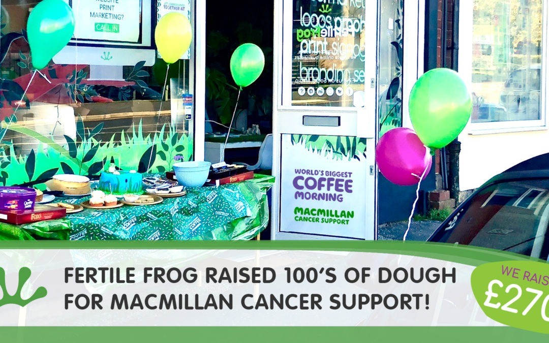 Fertile Frog raised hundreds of dough for MacMillan Cancer Support!