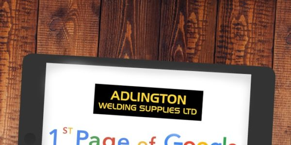Graphic showing 1st page Google ranking 'WELDING SUPPLIES'