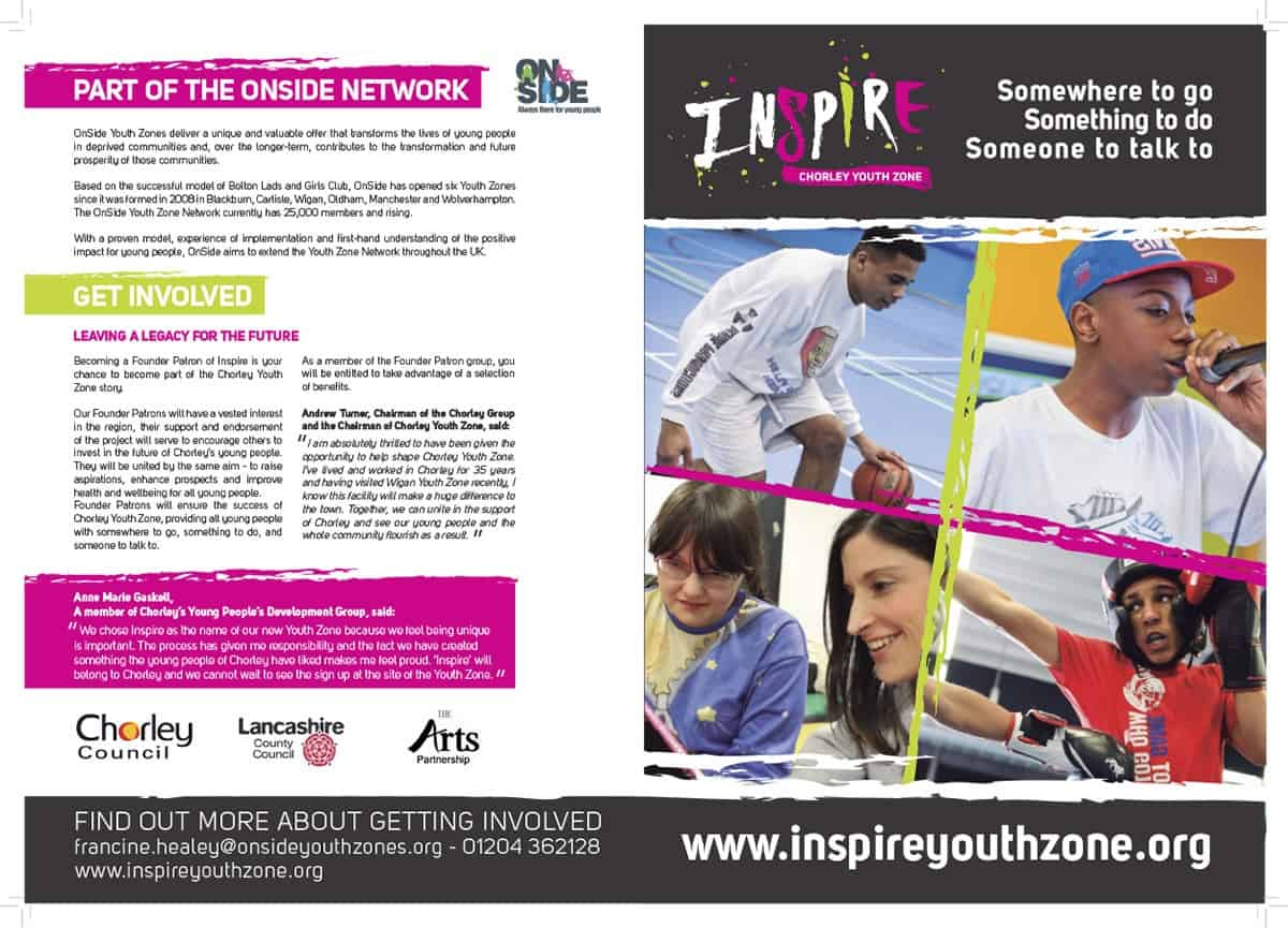 Inspire Youth Zone brochure