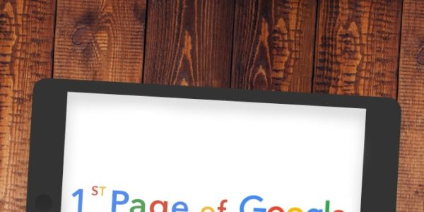 Graphic showing 1st page Google ranking 'LAW FIRM SEO'