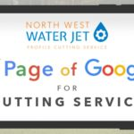 Ipad showing 1st Page Google Ranking for 'CUTTING SERVICE'