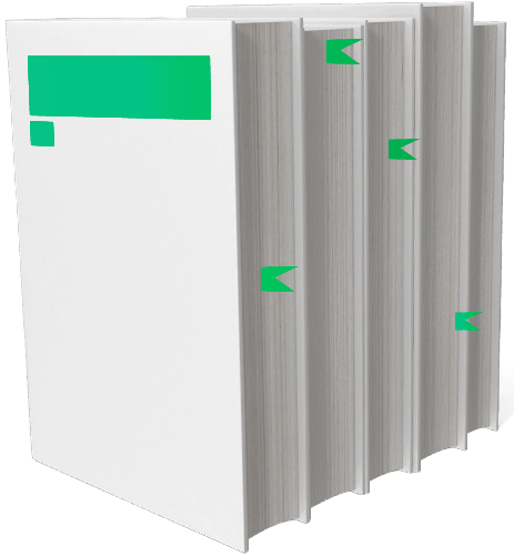 Green and white book