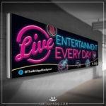 Live entertainment banner