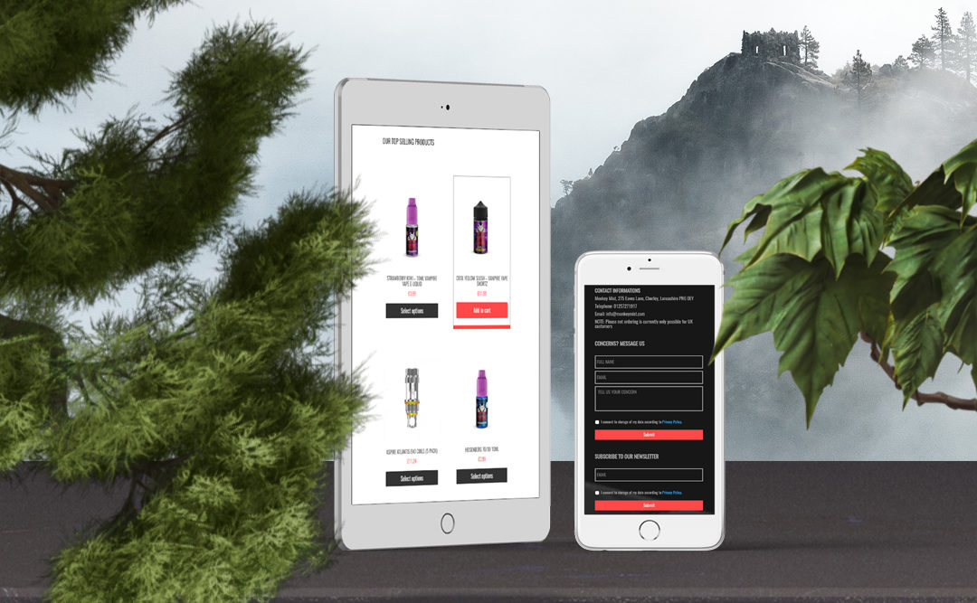 Vaping Equipment Ecommerce Website Build