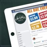 The Grapes social media mockup