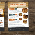 food and drink menu designed for a pub