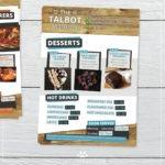 the talbot pub flyers mockup