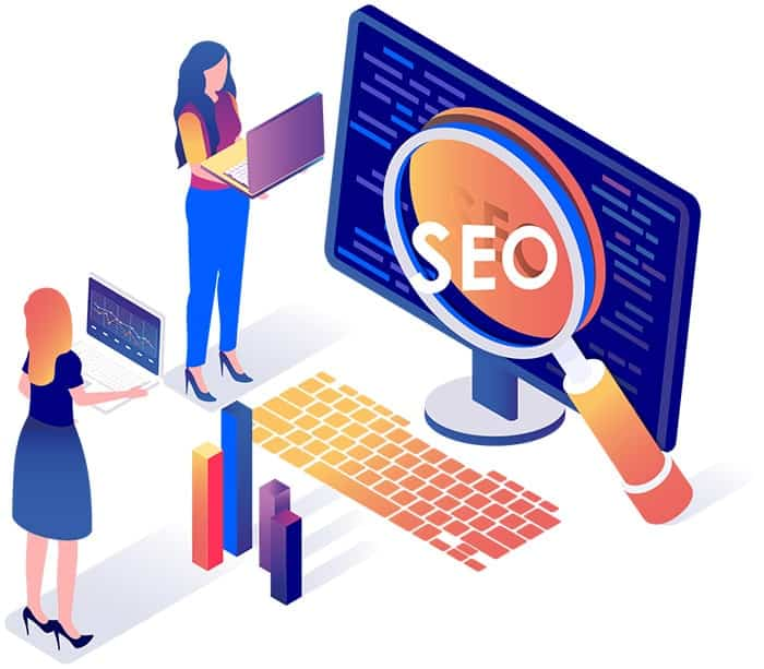 graphic showing global seo service