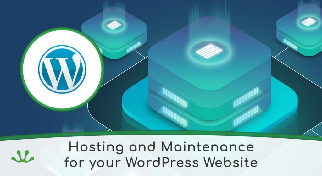 Hosting and maintenance for wordpress graphic banner