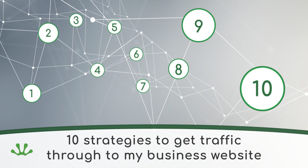 Banner graphic showing traffic strategy concept