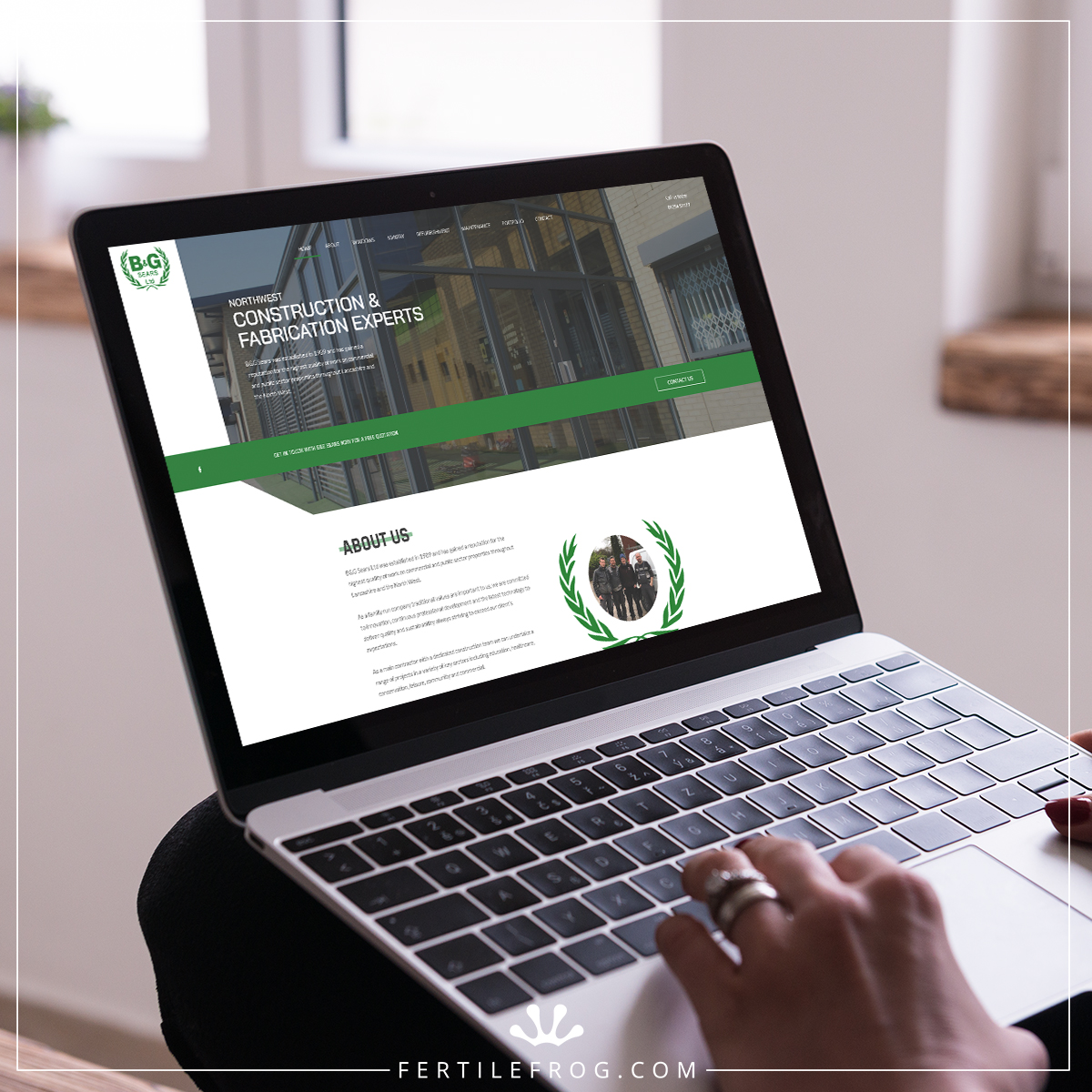 Construction Website - B&G Sears on Laptop