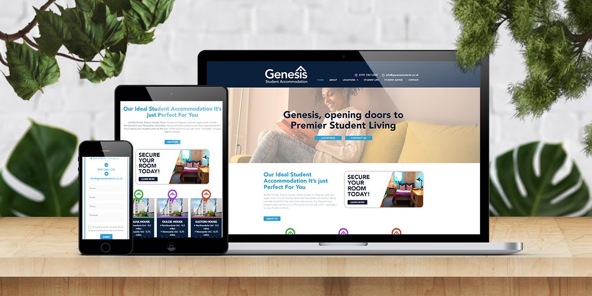 Genesis Student Accommodation web build main image