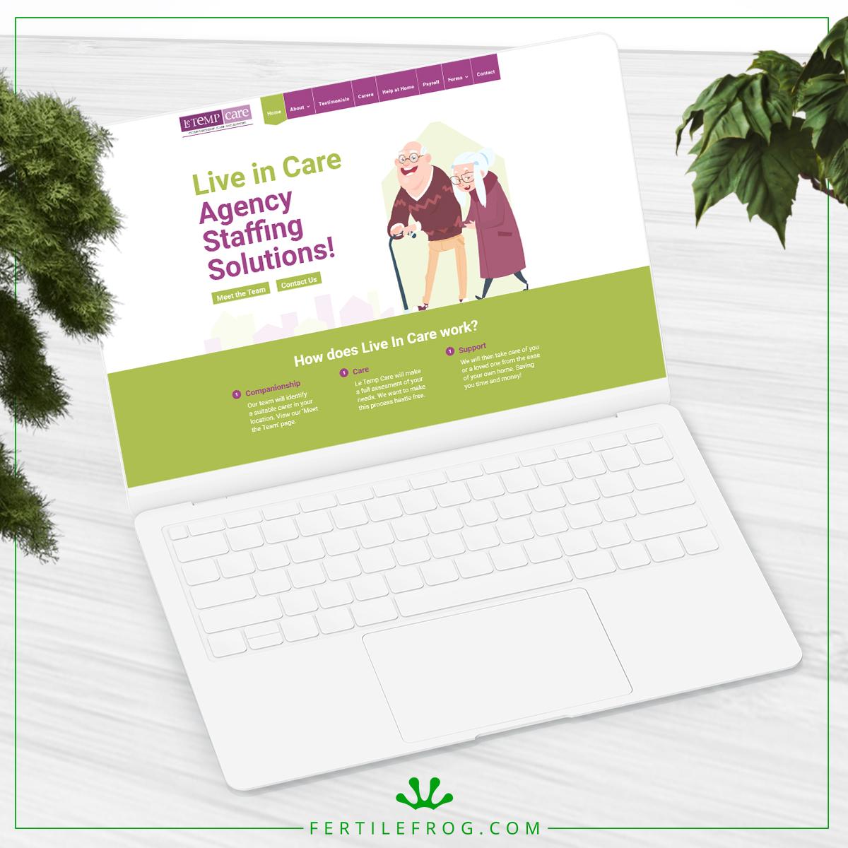 Le Temp Care Agency Website Build Laptop