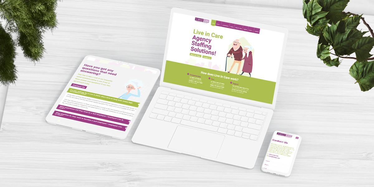 Le Temp Care Agency Website Build main image
