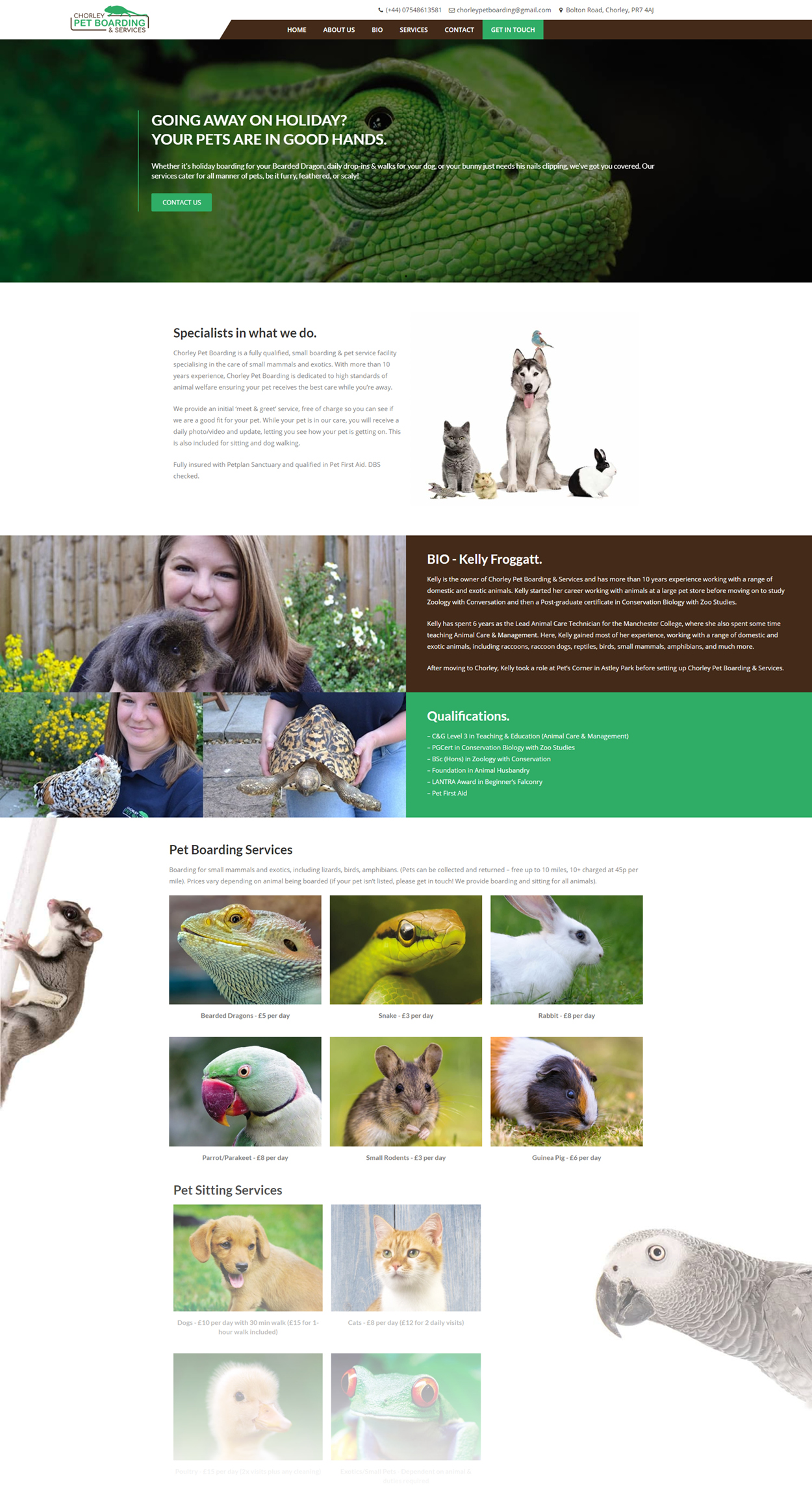 Pet Boarding and Services Website Full page