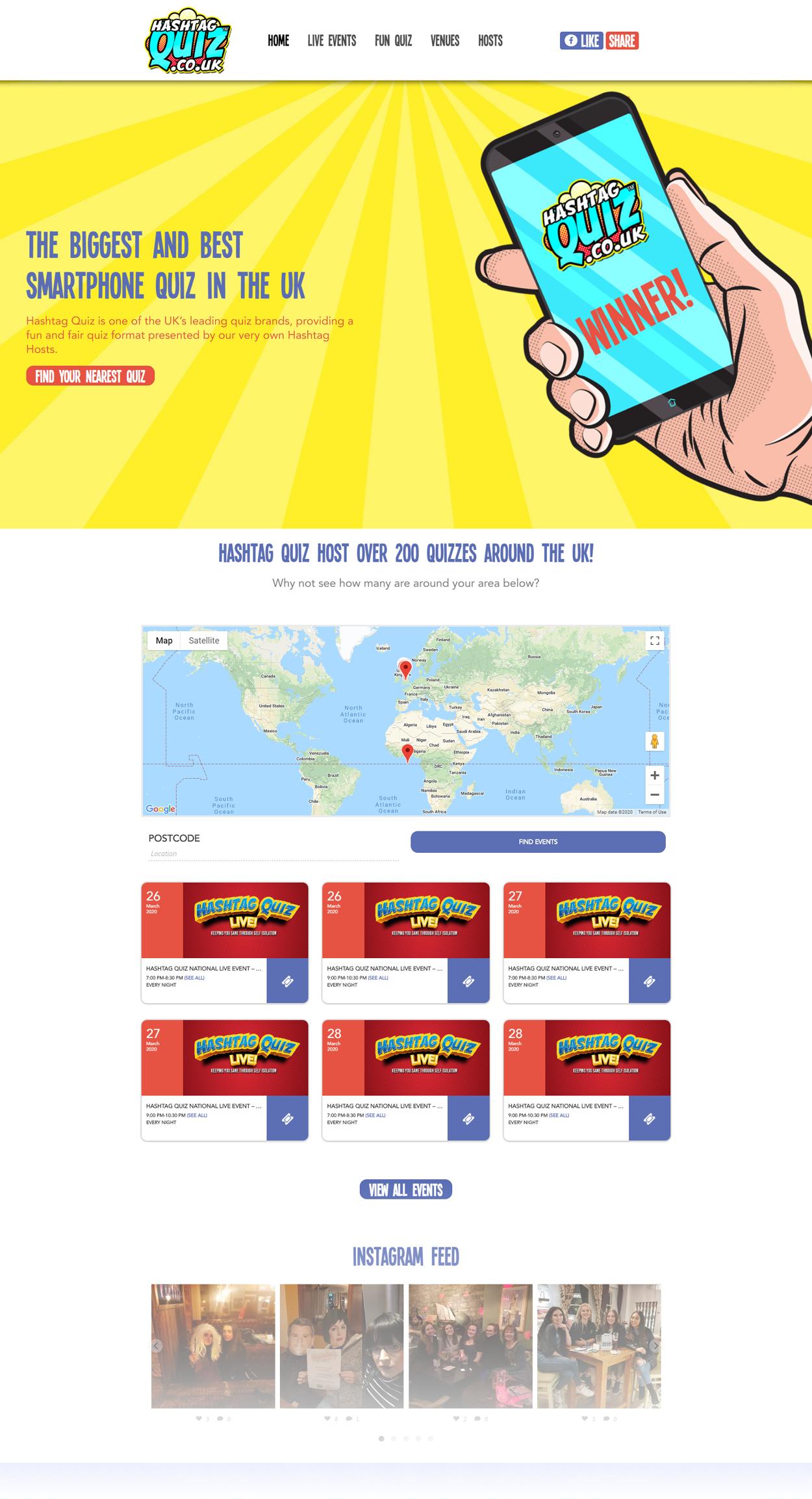 Smartphone Quiz website build full page