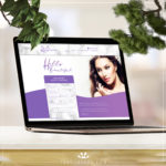Wysteria Beauty Salon Website Build on laptop